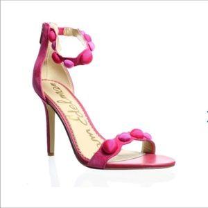 Sam Edelman Addison Suede Pom Pom Sandals Size 8.5